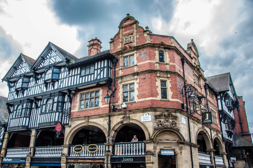The intersection of Bridge Street and Eastgate Street - Chester, Cheshire, England - rossiwrites.com