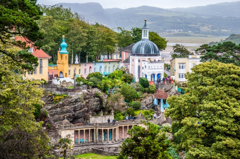 View of Portmeirion - North Wales, UK - rossiwrites.com