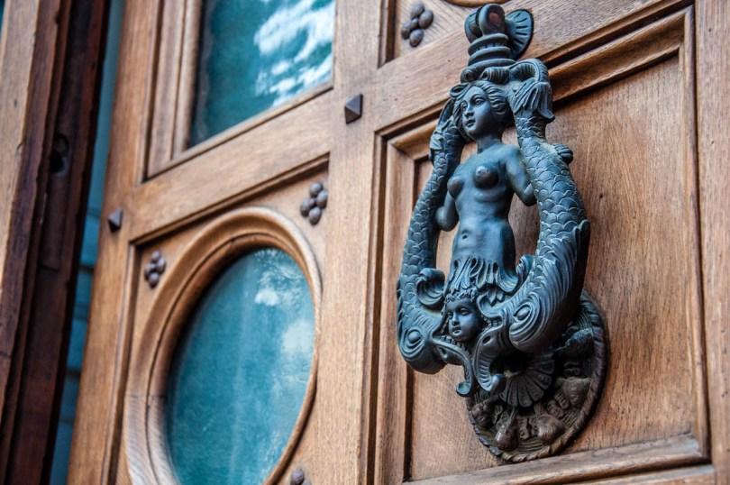 A melusine doorknocker - Trento, Trentino, Italy - rossiwrites.com