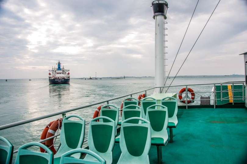 Ferryboat between Lido and Pellestrina - Venice, Veneto, Italy - rossiwrites.com