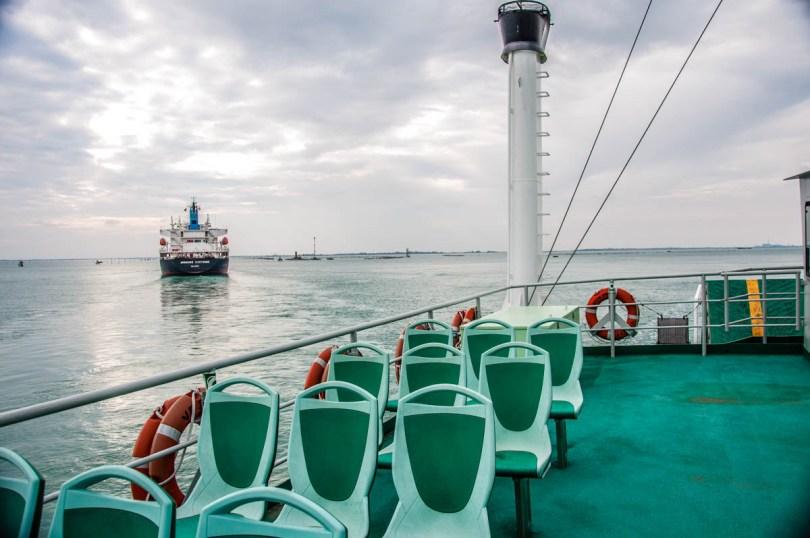 Ferryboat between Lido and Pellestrina - Venice, Veneto, Italy - rossiwrites.com