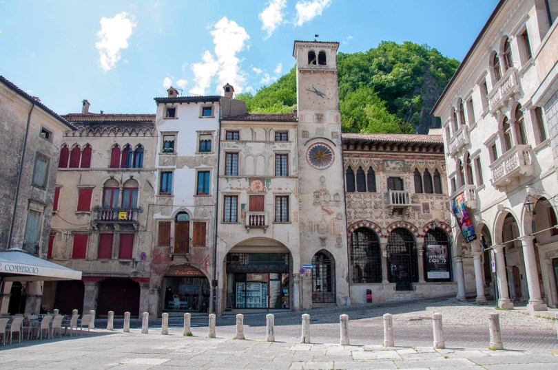 Serravalle's historic main square - Vittorio Veneto, Italy - rossiwrites.com