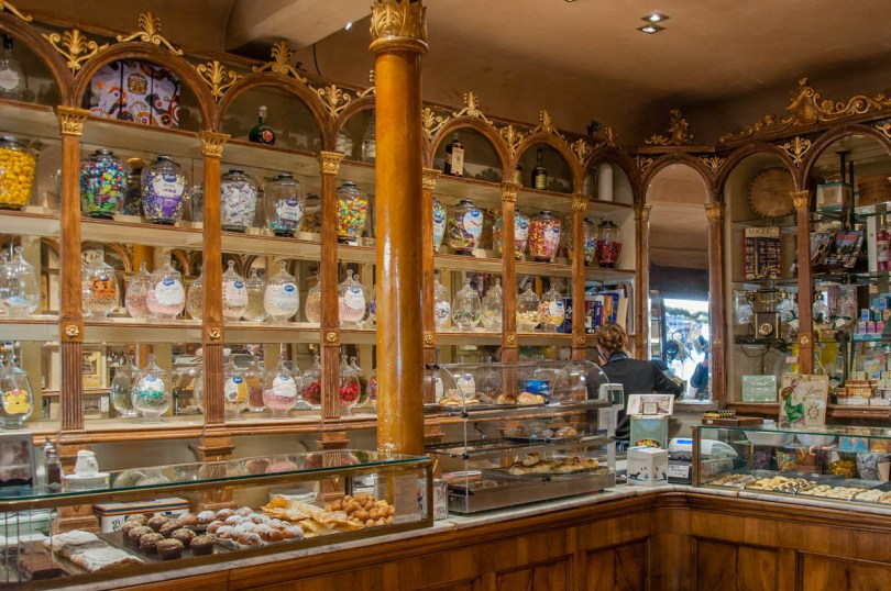 The interior of the historic Pasticceria Soraru - Vicenza, Veneto, Italy - rossiwrites.com