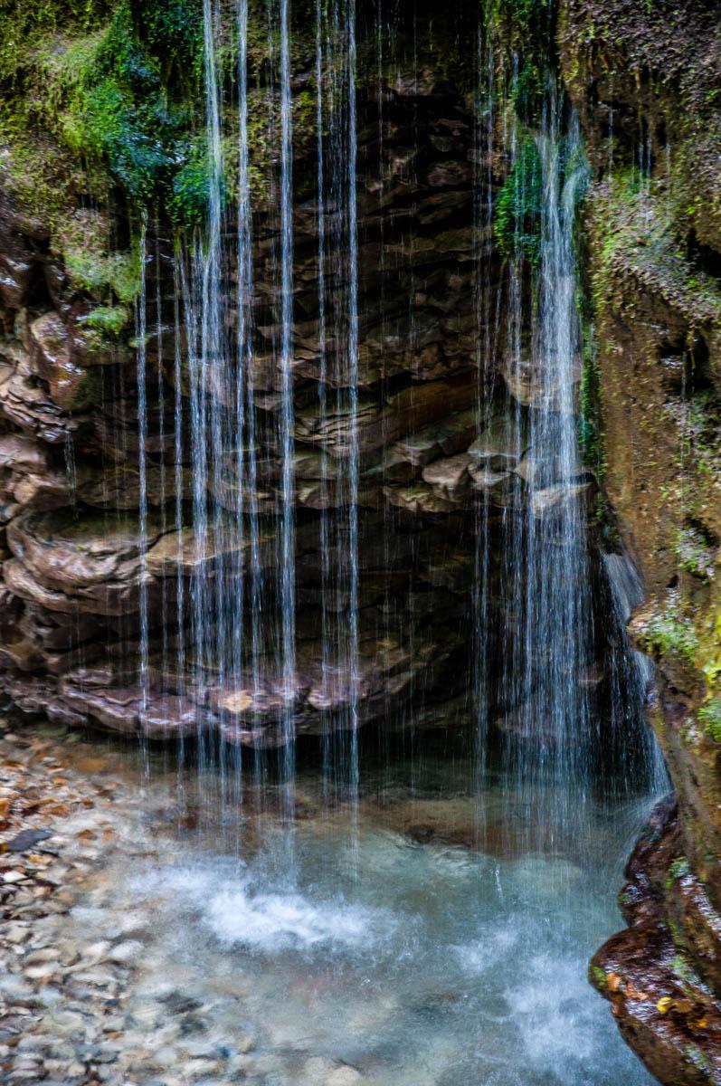 The waterfall - Grotta Azzurra di Mel - Hiking in the Dolomites - Veneto, Italy - rossiwrites.com