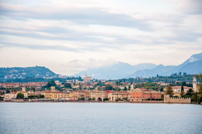 Lazise seen from the water - Lake Garda, Italy - rossiwrites.com