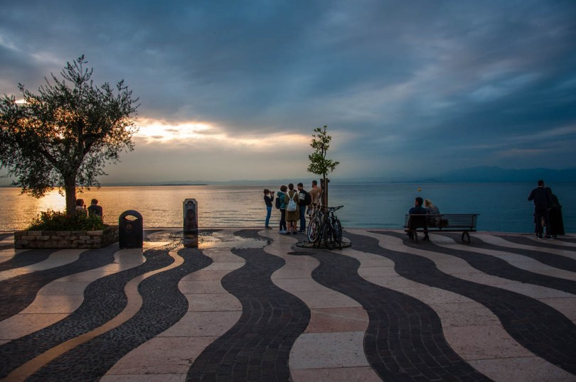 Sunset over the lake - Lazise, Lake Garda, Italy - rossiwrites.com