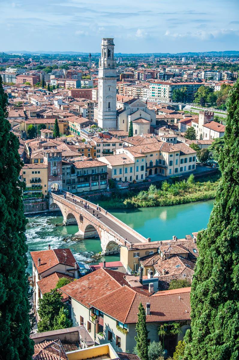 View of Verona from Castel San Pietro - Veneto, Italy - rossiwrites.com