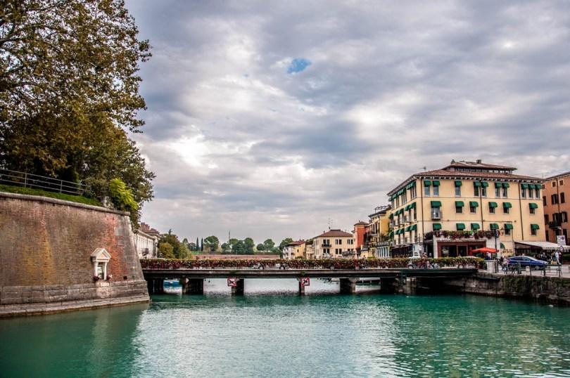 View of Peschiera del Garda with its defensive walls - Lake Garda, Italy - rossiwrites.com