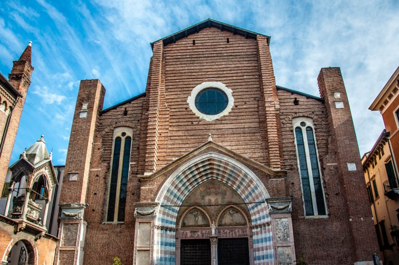 Basilica of St. Anastasia - Verona, Veneto, Italy - rossiwrites.com