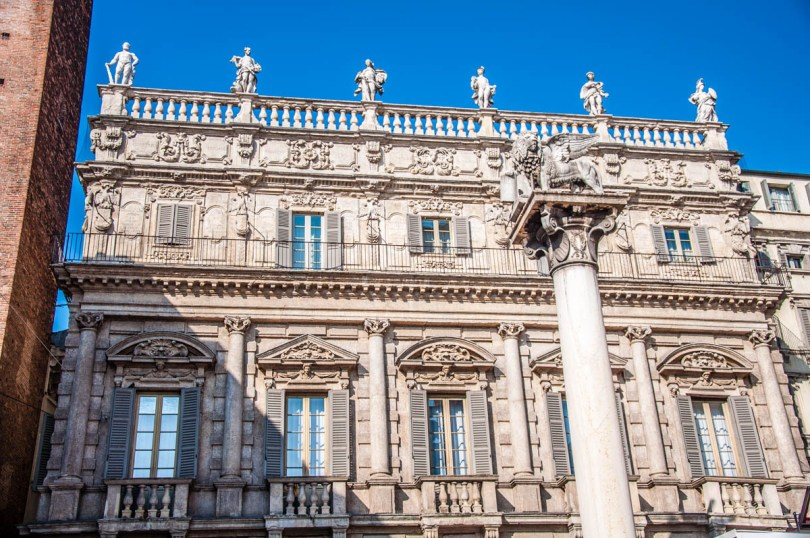 Palazzo Maffei at Piazza delle Erbe - Verona, Veneto, Italy - rossiwrites.com