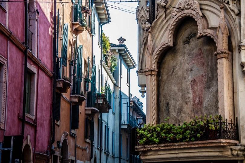 Street in the historical centre - Verona, Veneto, Italy - rossiwrites.com