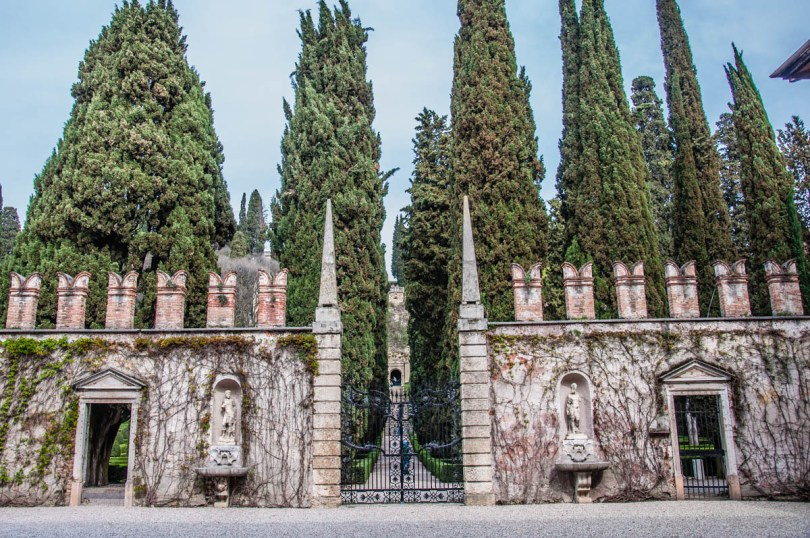 The entrance of Giardino Giusti - Verona, Veneto, Italy - rossiwrites.com