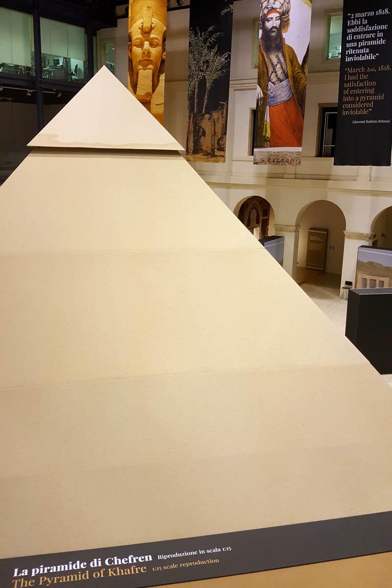 The pyramid in the Belzoni's Egypt Exhibition - Padua, Veneto, Italy - rossiwrites.com