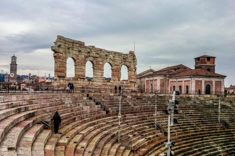 Top view of Arena di Verona - Verona, Veneto, Italy - rossiwrites.com
