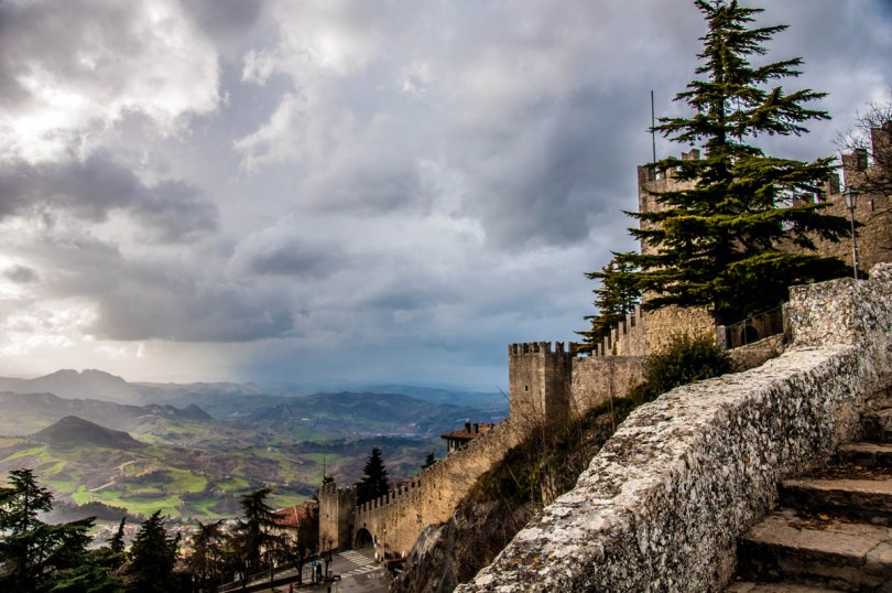 The defensive walls of the historic centre of the City of San Marino - San Marino - rossiwrites.com