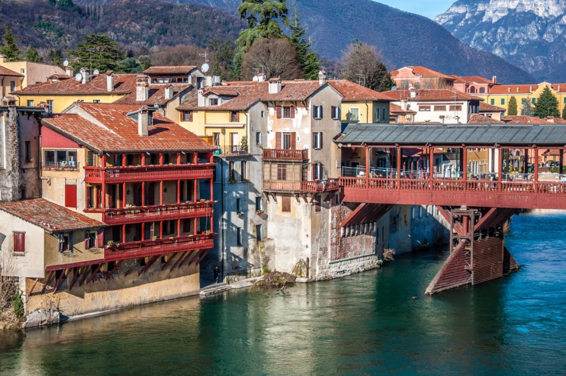 Bassano del Grappa with the Alpini Bridge - Veneto, Italy - rossiwrites.com