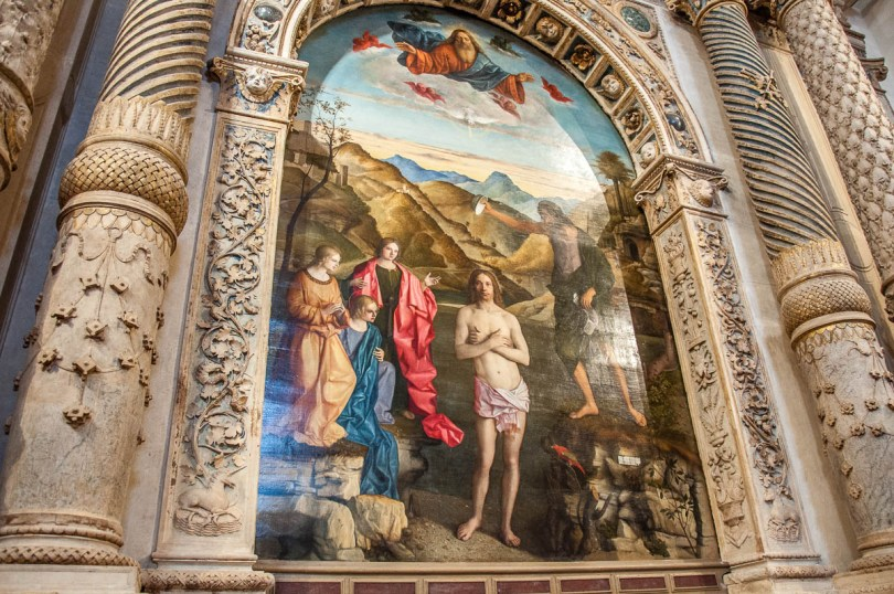 Baptism of Christ - Giovanni Bellini - Church of Santa Corona - Vicenza, Italy - rossiwrites.com