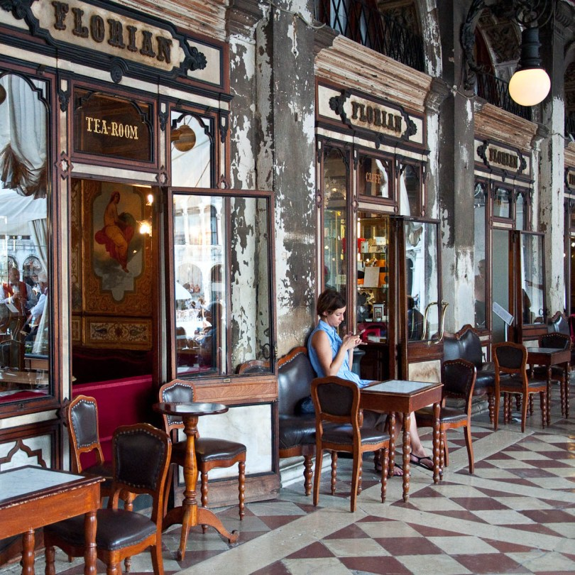 Cafe Florian, St. Mark's Square, Venice, Italy - rossiwrites.com