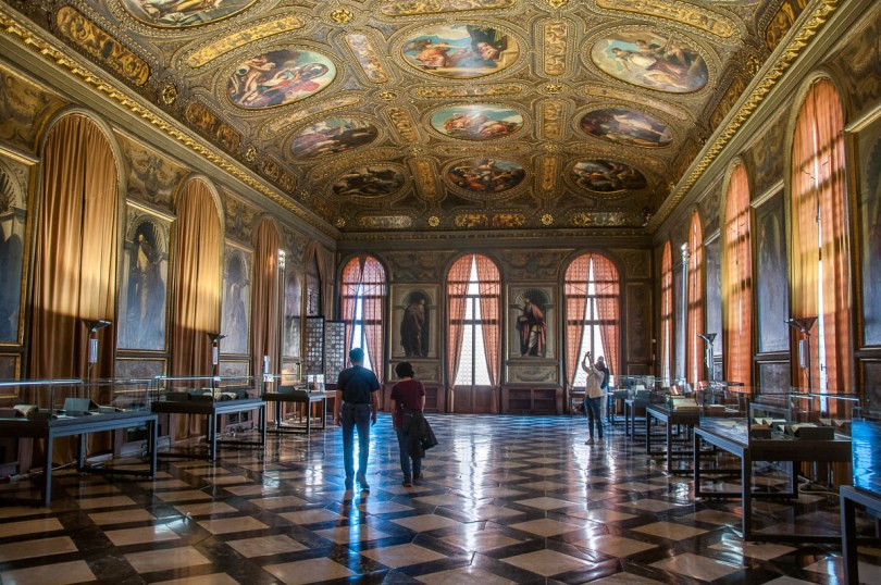Monumental Rooms of the Biblioteca Marciana - Venice, Italy - rossiwrites.com