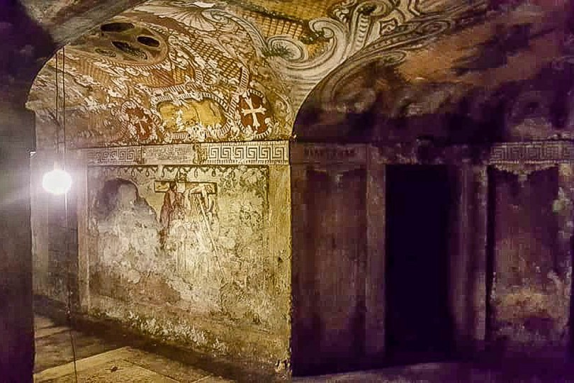 The crypt of the Church of San Simeon Piccolo - Venice, Italy - rossiwrites.com