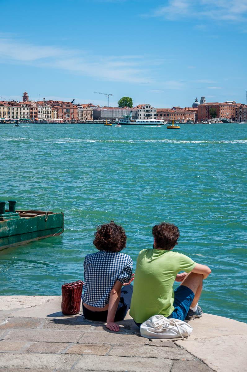 Admiring Venice from the Punta della Dogana - Venice, Italy - rossiwrites.com