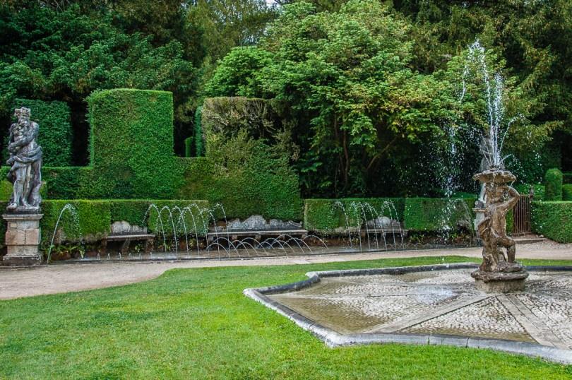 Fountains of water tricks - Giardino Valzansibio - Euganean Hills, Padua, Italy - rossiwrites.com