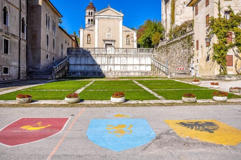 Piazza Maggiore with the Church of St. Roch - Feltre - Veneto, Italy - rossiwrites.com