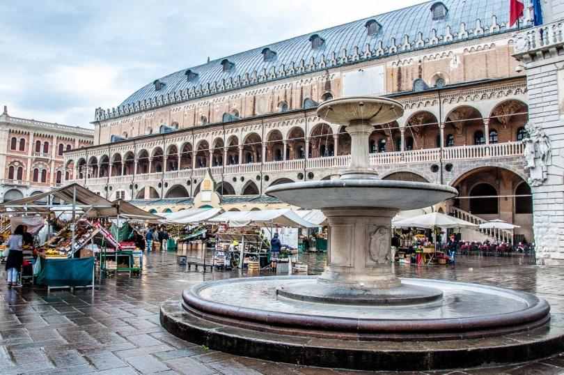 Piazza delle Erbe on a market day, Padua - Veneto, Italy - rossiwrites.com