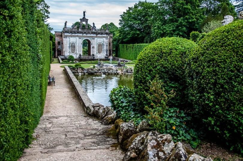 View of Diana's Doorway - Giardino Valzansibio - Euganean Hills, Padua, Italy - rossiwrites.com