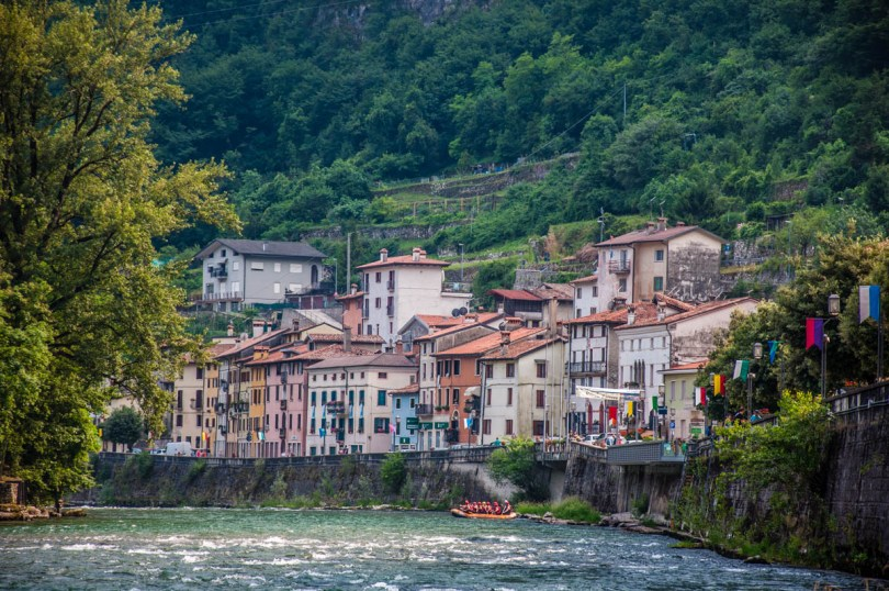 View of the town of Valstagna with the river Brenta - Veneto, Italy - rossiwrites.com