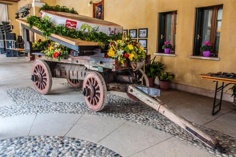 The one tonne cheese wheel - Festa della Transumanza - Bressanvido, Veneto, Italy - rossiwrites.com