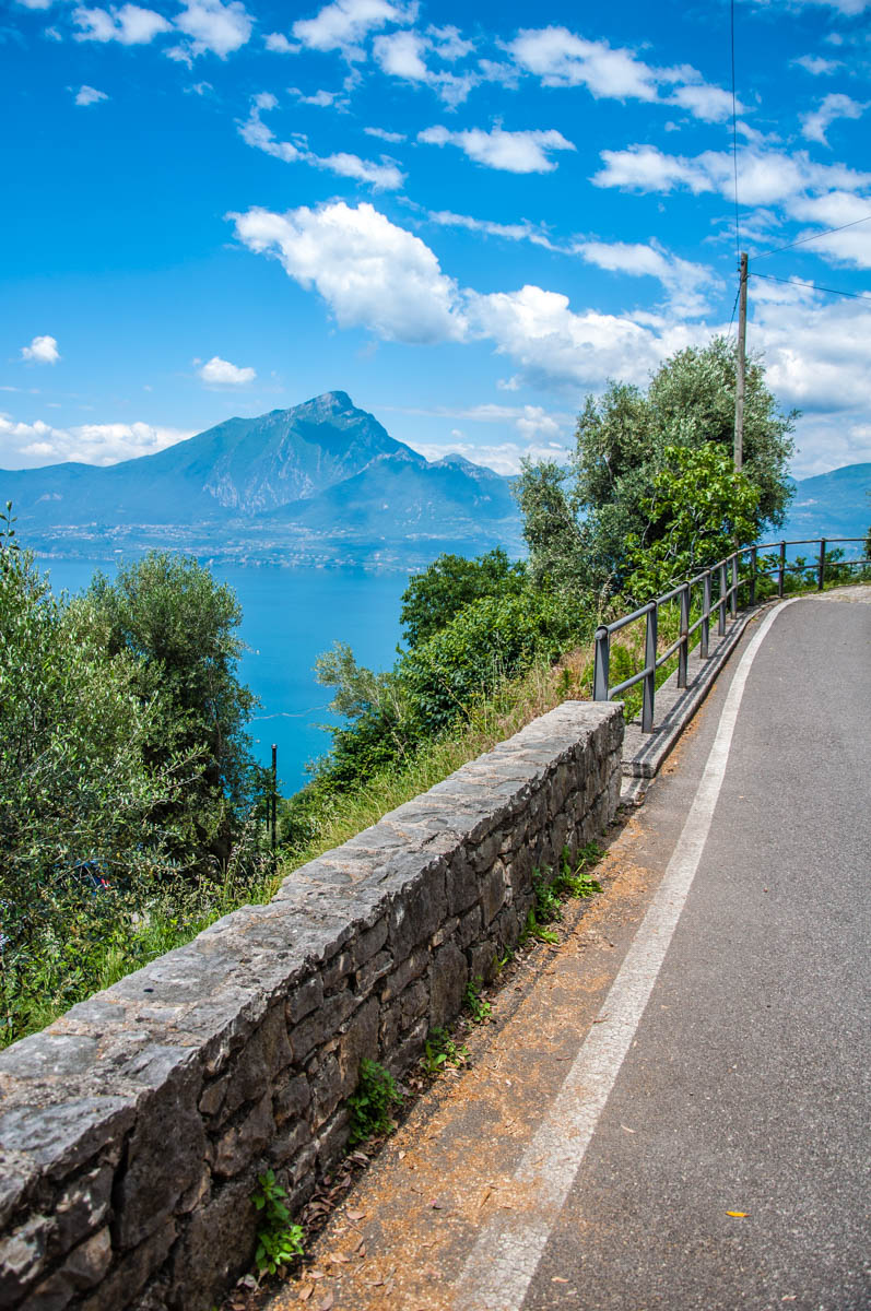The road leading from the car park to the village - Crero, Lake Garda, Veneto, Italy - rossiwrites.com