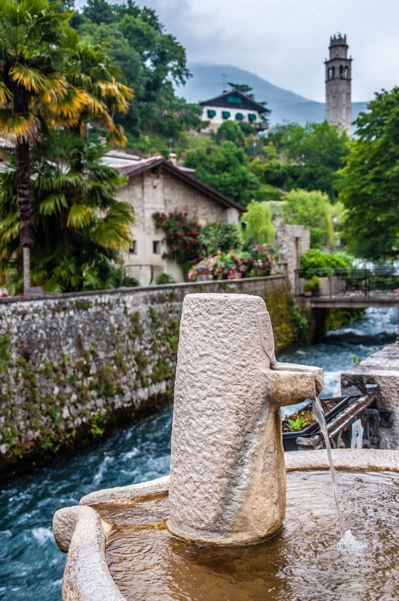 Water fountain with the river Gorgazzo - Polcenigo, Friuli Venezia Giulia, Italy - rossiwrites.com