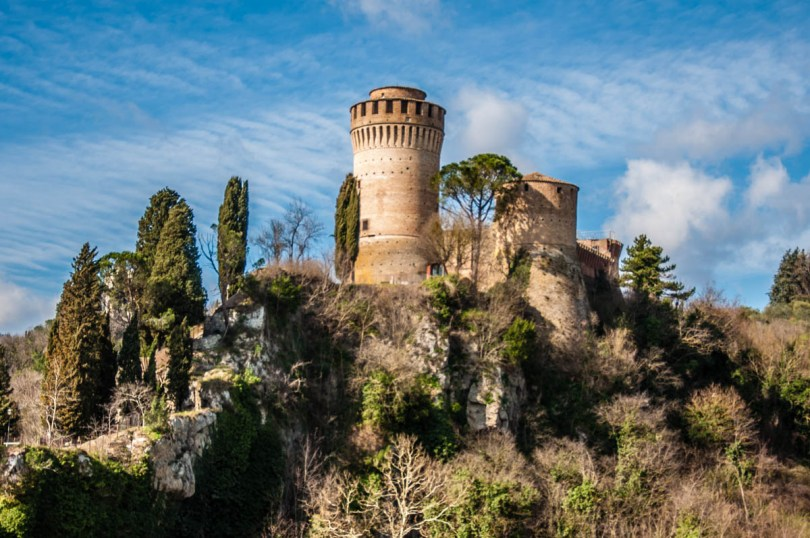 The fortress seen from the hilltop clocktower - Brisighella, Province of Ravenna - Emilia-Romagna, Italy - rossiwrites.com