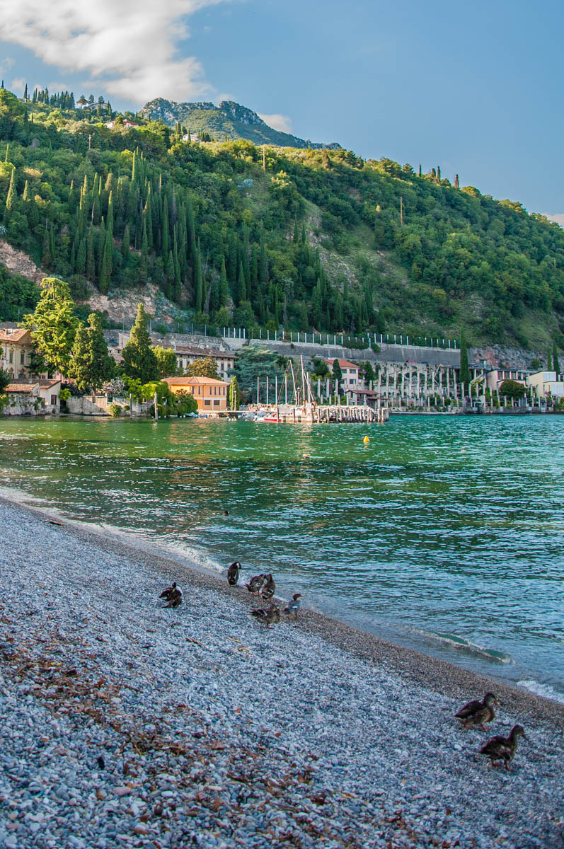 A view of the Lake Garda Bau Beach - Toscolano, Lombardy, Italy - rossiwrites.com