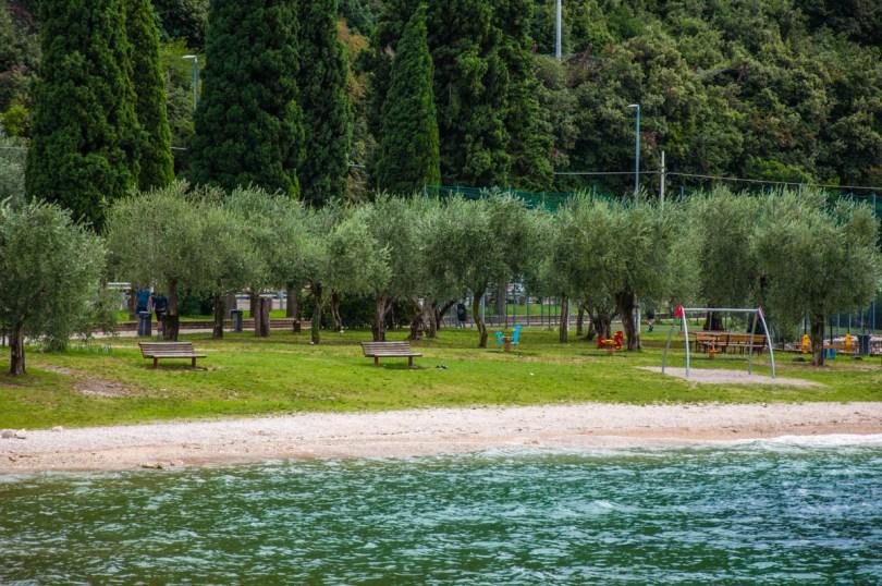 The beach in Navene, Lake Garda, Veneto, Italy - rossiwrites.com