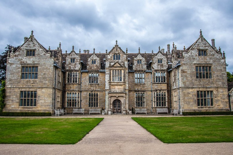 The facade of the Mansion - Wakehurst, West Sussex, England, UK - rossiwrites.com