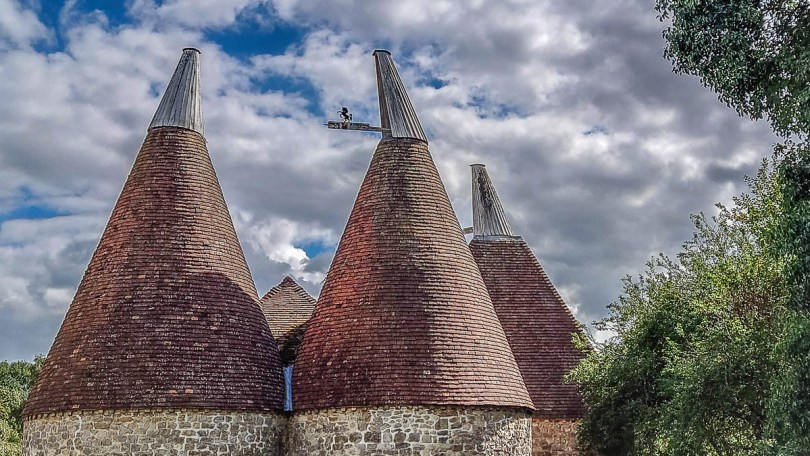 The kilns of the historic oast house - Kent Life - Maidstone, Kent, England - rossiwrites.com