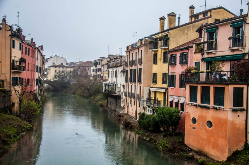 The view from the Roman bridge Ponte Molino - Padua, Veneto, Italy - rossiwrites.com