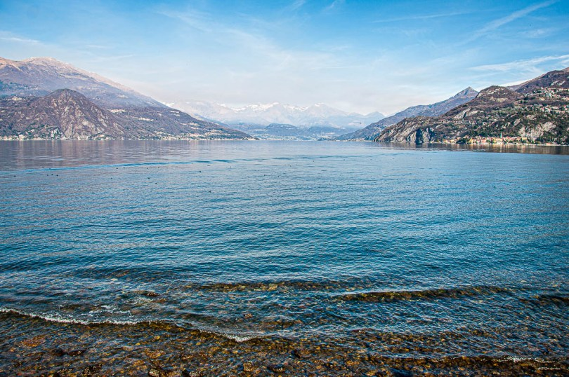 Panoramic view towards the top end of the lake - Bellagio - Lake Como, Italy - rossiwrites.com