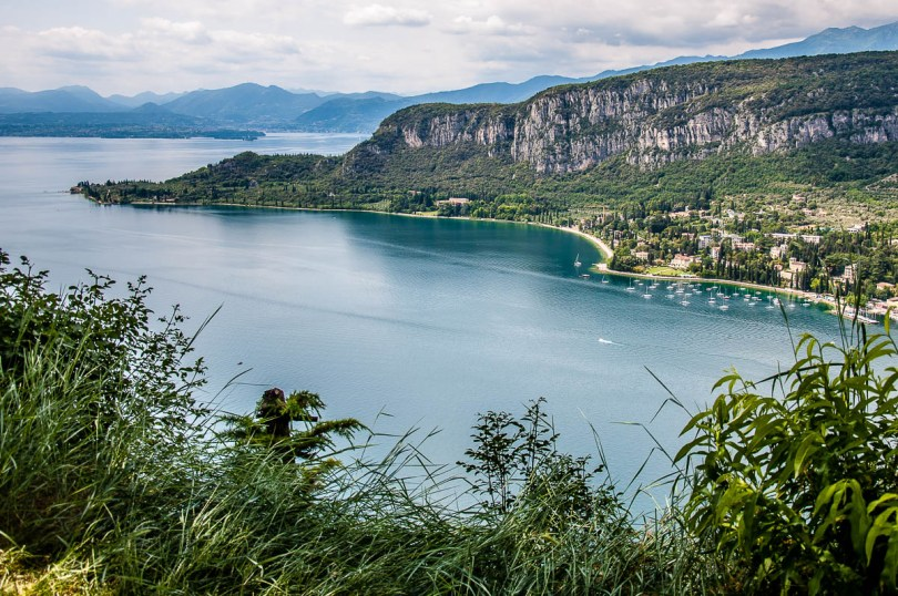 The promontory of Punta di San Vigilio seen from the top of Rocca di Garda - Lake Garda, Italy - rossiwrites.com