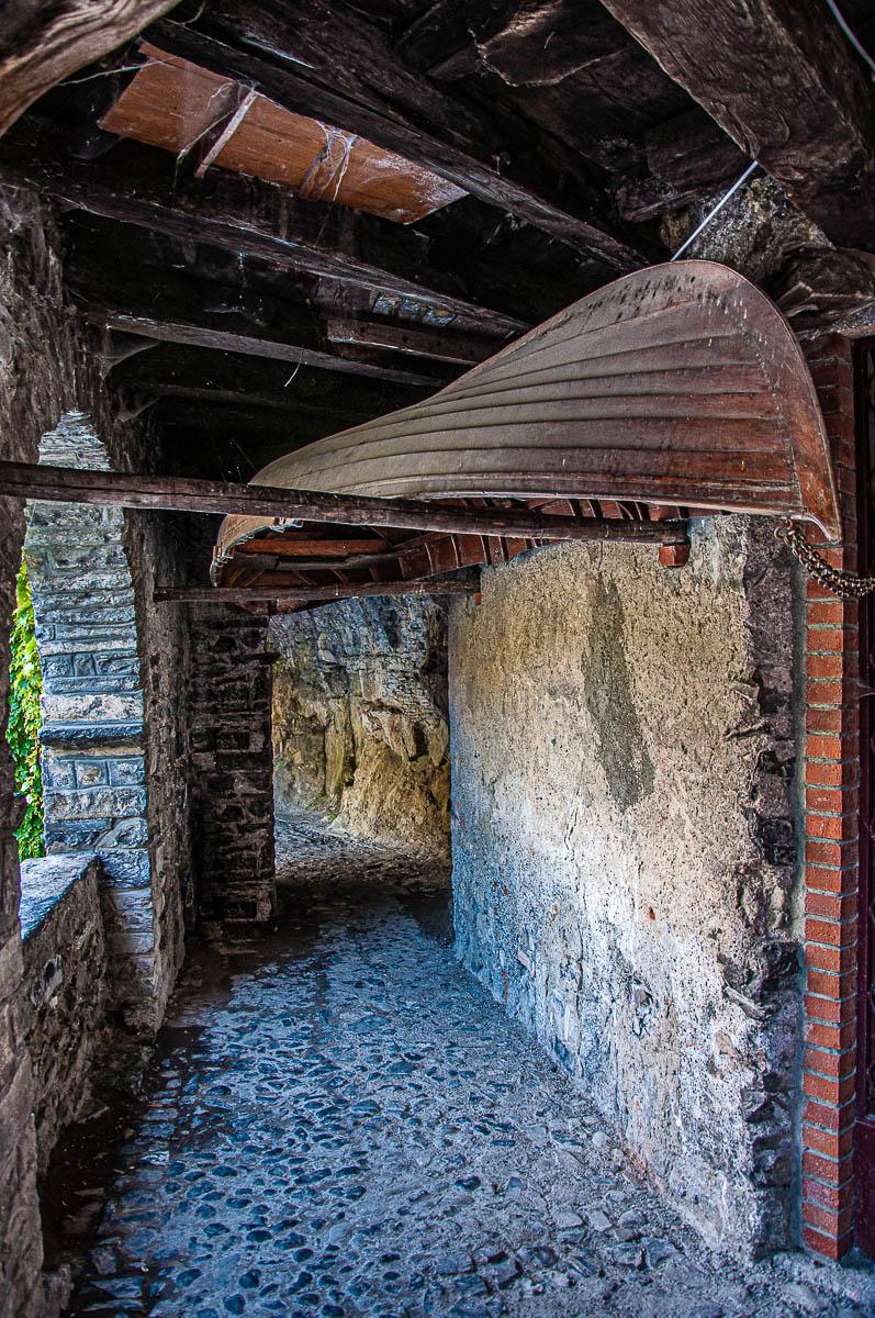 The tunnel leading to the Civera bridge - Nesso - Lake Como, Italy - rossiwrites.com