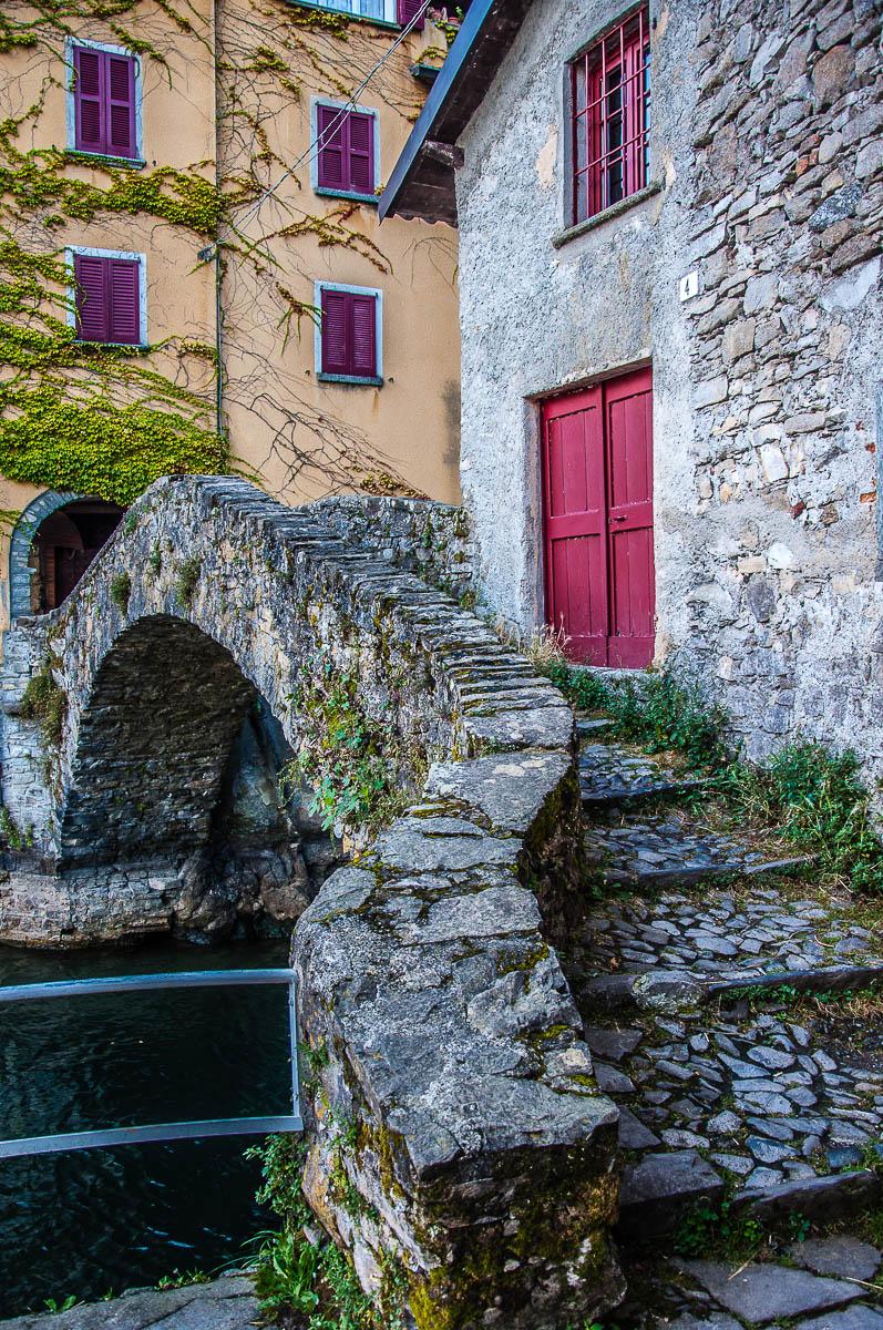 View of the Bridge Civera in Nesso - Lake Como, Italy - rossiwrites.com