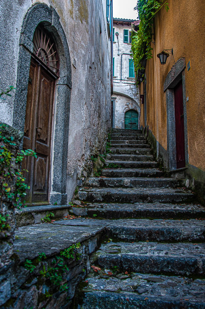 Old doors in Nesso - Lake Como, Italy - rossiwrites.com
