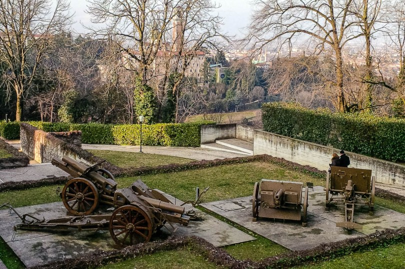 The garden with old cannons - Risorgimento and Resistance Museum in Vicenza - Veneto, Italy - rossiwrites.com