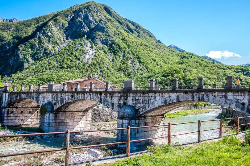 The bridge over the Venzonassa Torrent - Venzone, Italy - rossiwrites.com