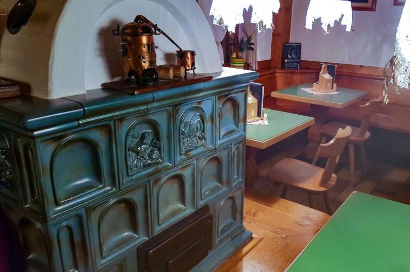 The restaurant of Rifugio Capanna Passo Valles - Veneto, Italy - rossiwrites.com