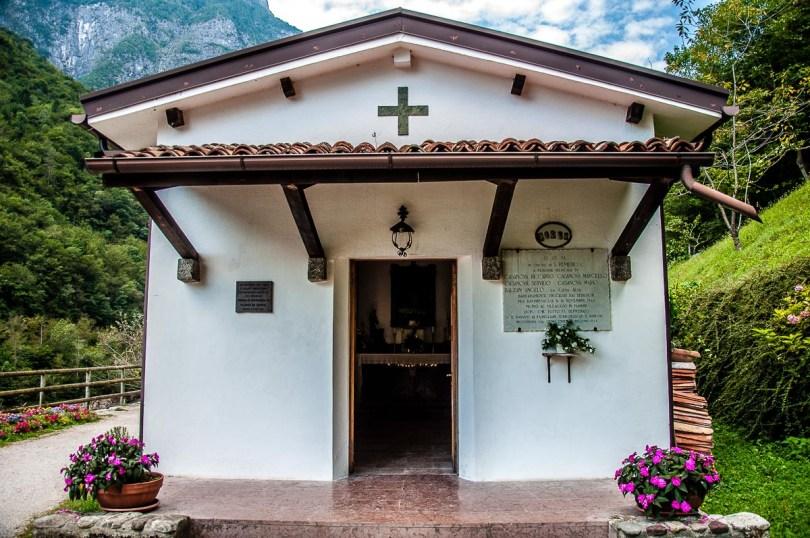 The small chapel near Cascate della Soffia - Dolomites, Italy - rossiwrites.com