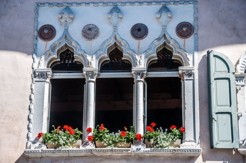 Venetian windows - Venzone, Italy - rossiwrites.com