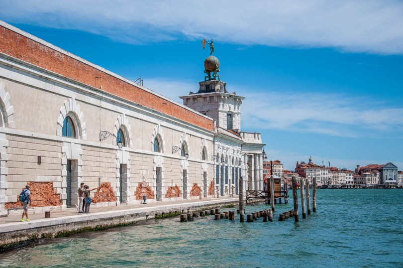 Approaching the Punta della Dogana on the Fondamenta delle Zattere - Venice, Italy - rossiwrites.com